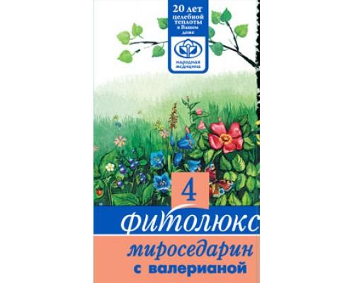 Успокоительный сбор трав Фитолюкс 4 - Мироседарин с валерианой, 50 гр