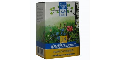 Сбор трав при панкреатите Фитолюкс 18 - Панколивин с побегами черники, 50г