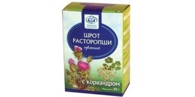Шрот расторопши пряный с кориандром, 50 гр