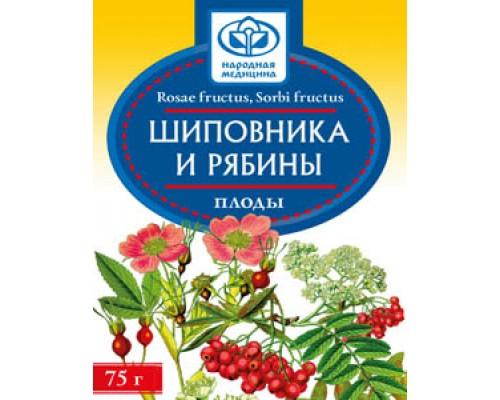 Шиповника плоды с плодами рябины, 75 гр